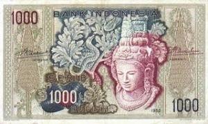 uang kuno seribu rupiah